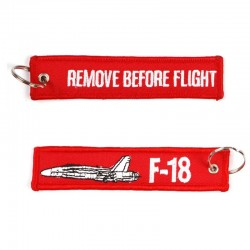 Llavero Remove before Flight F-18