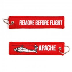 Llavero Remove before Flight Apache