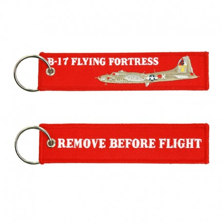 Llavero Remove before Flight - B17 Flying Fortress