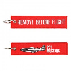 Llavero Remove before Flight - P51 Mustang