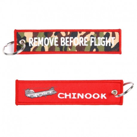 Llavero Remove before Flight Chinook Rojo
