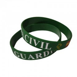 Pulsera de Silicona Guardia Civil Verde