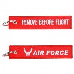 Llavero Remove Before Flight Air Force